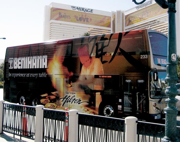 Benihana Las Vegas Bus Wrap