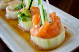 Salmon Cucumber Roll 3